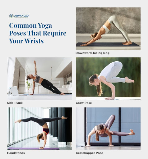 Common Yoga Poses that require wrists