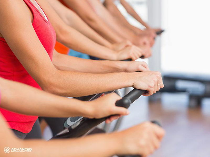 wrist pain on spin class