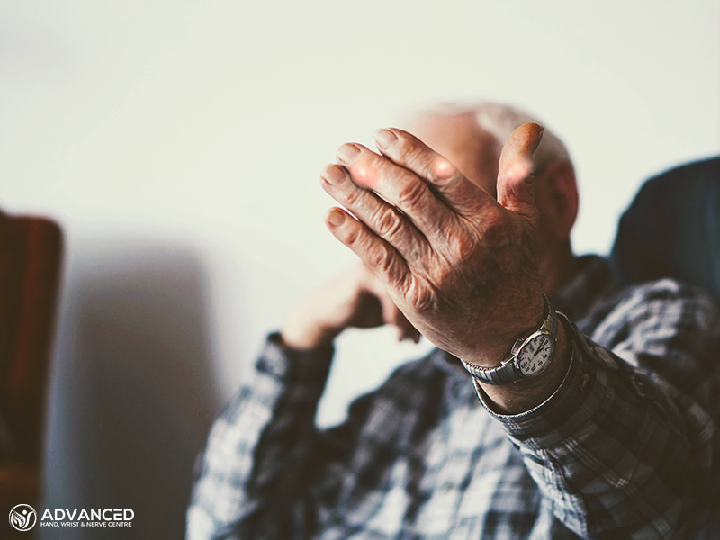 Old Man with Osteoarthritis in Hands